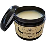 Beesbutter ALL NATURAL Leather Conditioner | Genuine Leather Restorer, Softener, and Protector | Leather Care for Purses, Saddles, Jackets, Shoes, Boots, Gloves, and More | Non-toxic | Made in USA