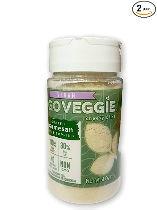 Go Veggie Dairy-Free Grated Topping, Parmesan, 4 oz (2-Pack)