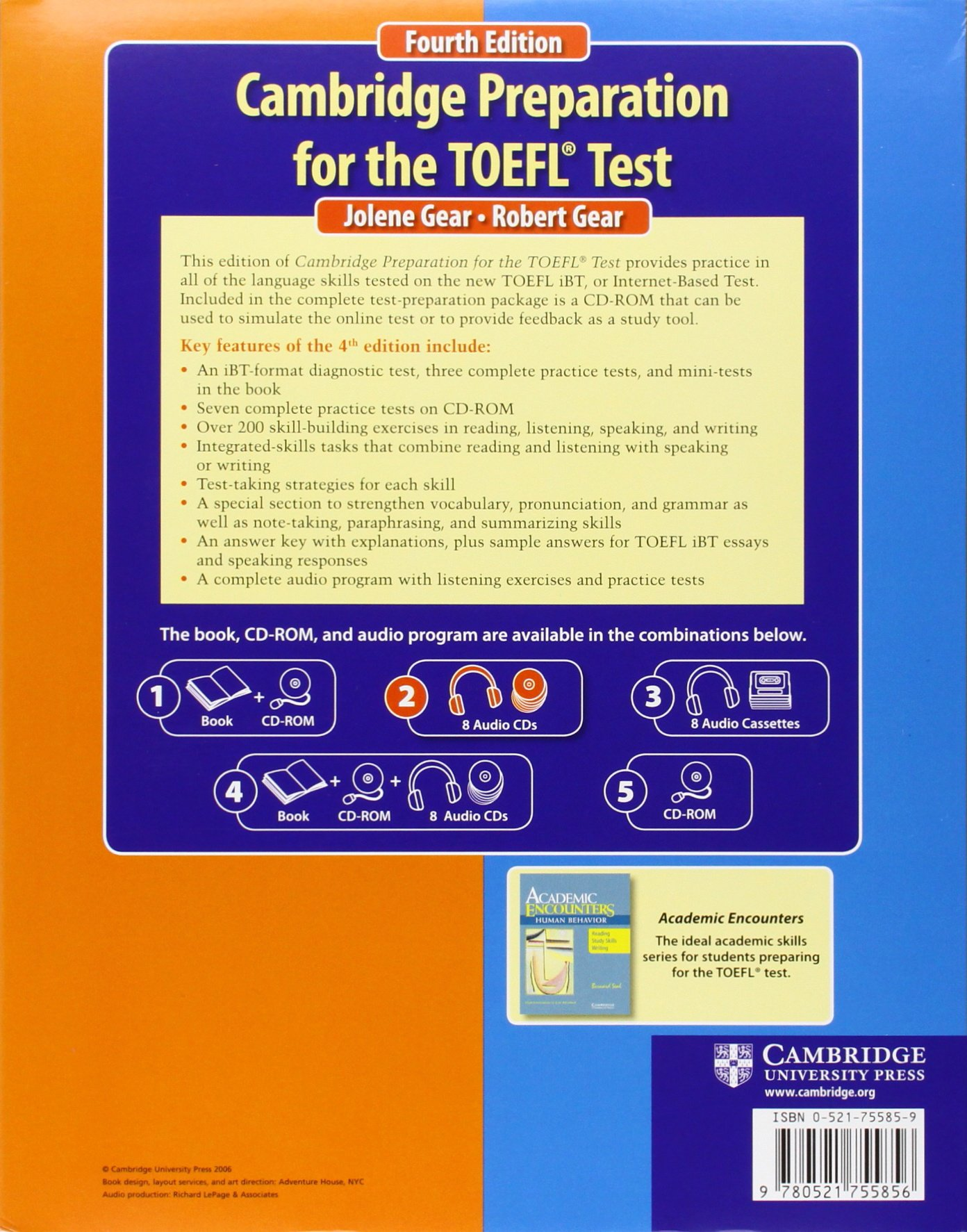 Cambridge Preparation for the TOEFL® Test Audio CDs (8) (Cambridge Preparation for the TOEFL Test)