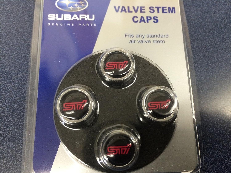 Amazon.com: Subaru STI LOGO Tire Valve Stem Caps Set Forester ...
