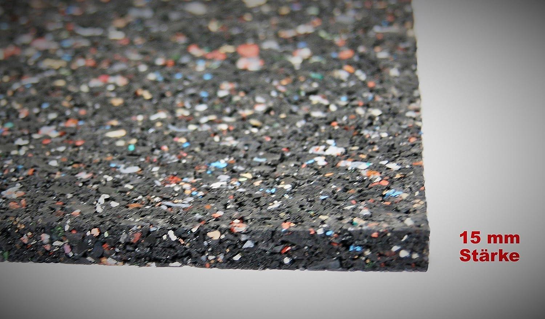 schwarz Bautenschutzmatte Gummigranulatmatte Kofferraummatte Bodenschutzmatte Bodenbelag Gummi lfd. Gummimatte Meterware Gummimatte Anti-Vibrationsmatte Antirutschmatte 100 x 60 x 2 cm