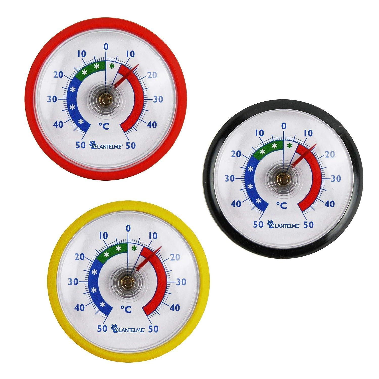 Termometro mondo Termometro Set 3/pezzi frigo Termometro Plastica in Germania colori nero rosso 4955 giallo