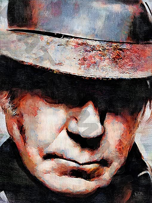 NEIL YOUNG CANADIAN ART PRINT POSTER OIL PAINTING LLFF0134