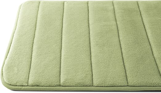 Amazon Com Caravalli Memory Foam Bath Mat Ripon Sage Green Non