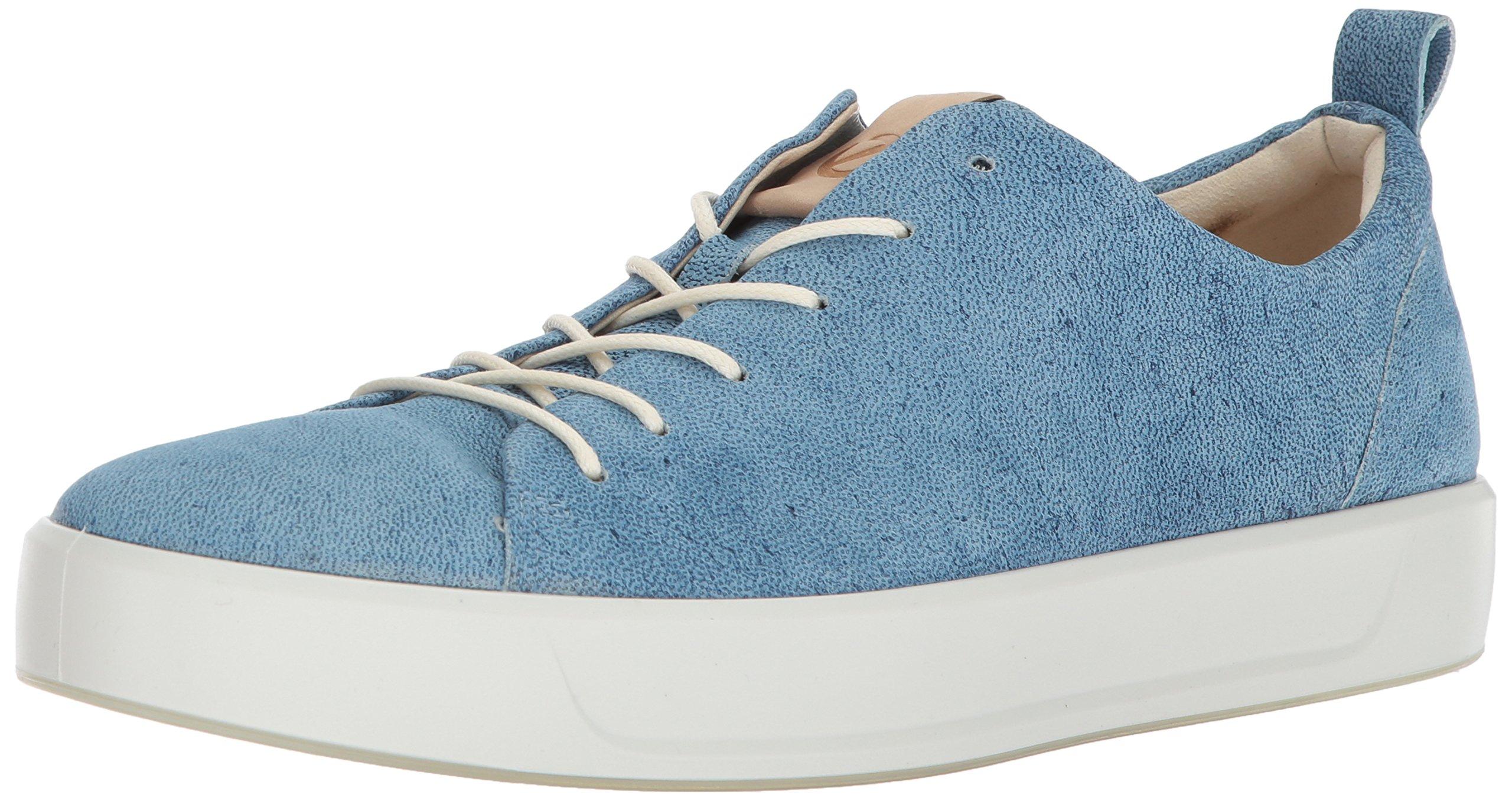 ECCO Men's Soft 8 Tie Fashion Sneaker, Indigo Powder, 8-8.5 M US