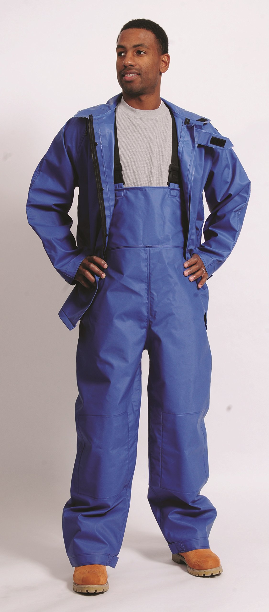 Galeton 7954-XL-BL 7954 Repel Rainwear 0.50 mm PVC 3-Layer Fishermans Rain Suit, Blue, X-Large