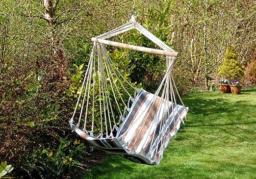 Hamaca Silla jardín nethara árbol Swing silla de playa reposera asiento y respaldo: Amazon.es: Jardín