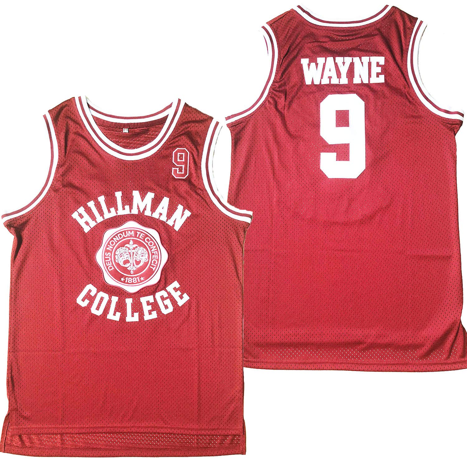 51b3b8b281f6 Amazon.com  Dwayne Wayne  9 A Different World Hillman College Theater  Basketball Jersey(Red