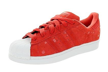 32975e90f7dd5 adidas Women's Superstar Originals Tomato/Tomato/Ftwwht Casual Shoe 9.5  Women US