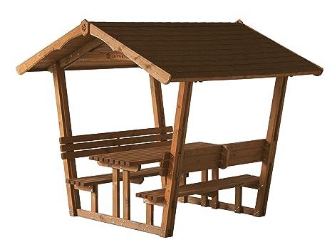Panca Con Tavolo Da Giardino : Gazebo in legno da giardino con panche e tavolo imbermeabile