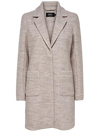 ONLY Damen Woll-Mantel onlStone Wool Coat 15156581  Amazon.de  Bekleidung 9a421705d9