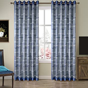 TWOPAGES 52 W X 96 L Luxurious Grommet Room Darkening Velvet Curtain  Drapery Panel For Traverse