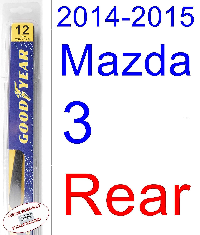2014 - 2015 Mazda 3 hoja de limpiaparabrisas de repuesto Set/Kit (Goodyear limpiaparabrisas blades-assurance): Amazon.es: Coche y moto