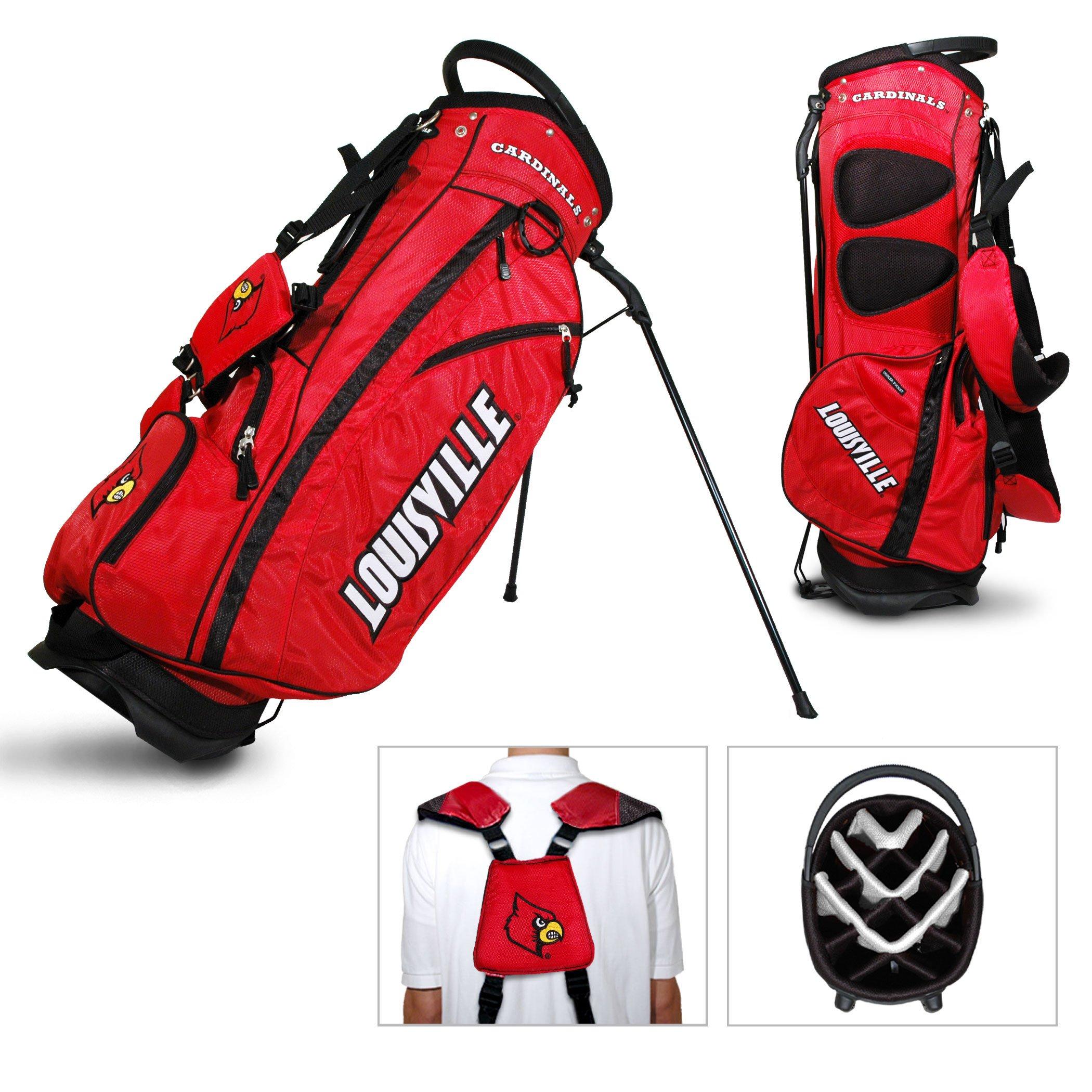 Louisville Cardinals Team Golf Fairway Light 14-Way Top Golf Club Stand Bag