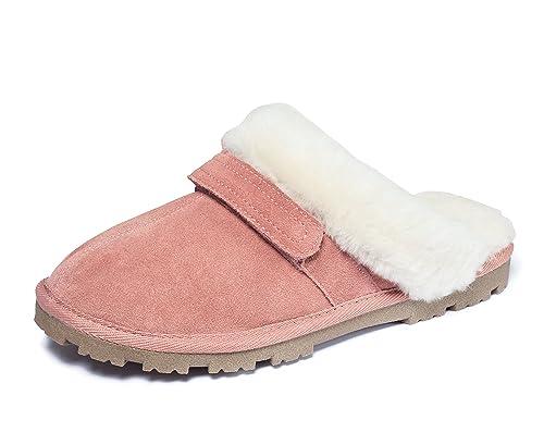 großer Rabatt Neu werden gute Qualität ECHT LAMMFELL Damen Hausschuhe Schuhe Pantoletten Slipper Altrosa ZARTES  Rose Gr.37-41