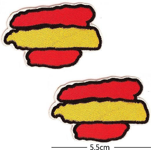 BANDERA DEL PARCHE España 5.5 * 3cm BORDADO PARA PLANCHAR O COSER: Amazon.es: Hogar