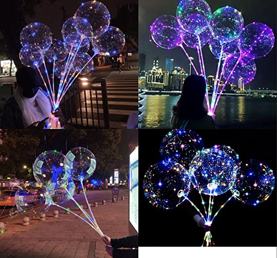 10 Stk Mini Luftballon LED Lampen Batterienbetrieben für Hochzeit Zeremonie