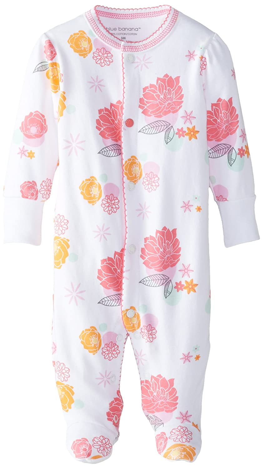 Kushies Baby Pretty Petals Front Snap Sleeper, Poppy Print, 6 Months, 1 Pack L1479-05