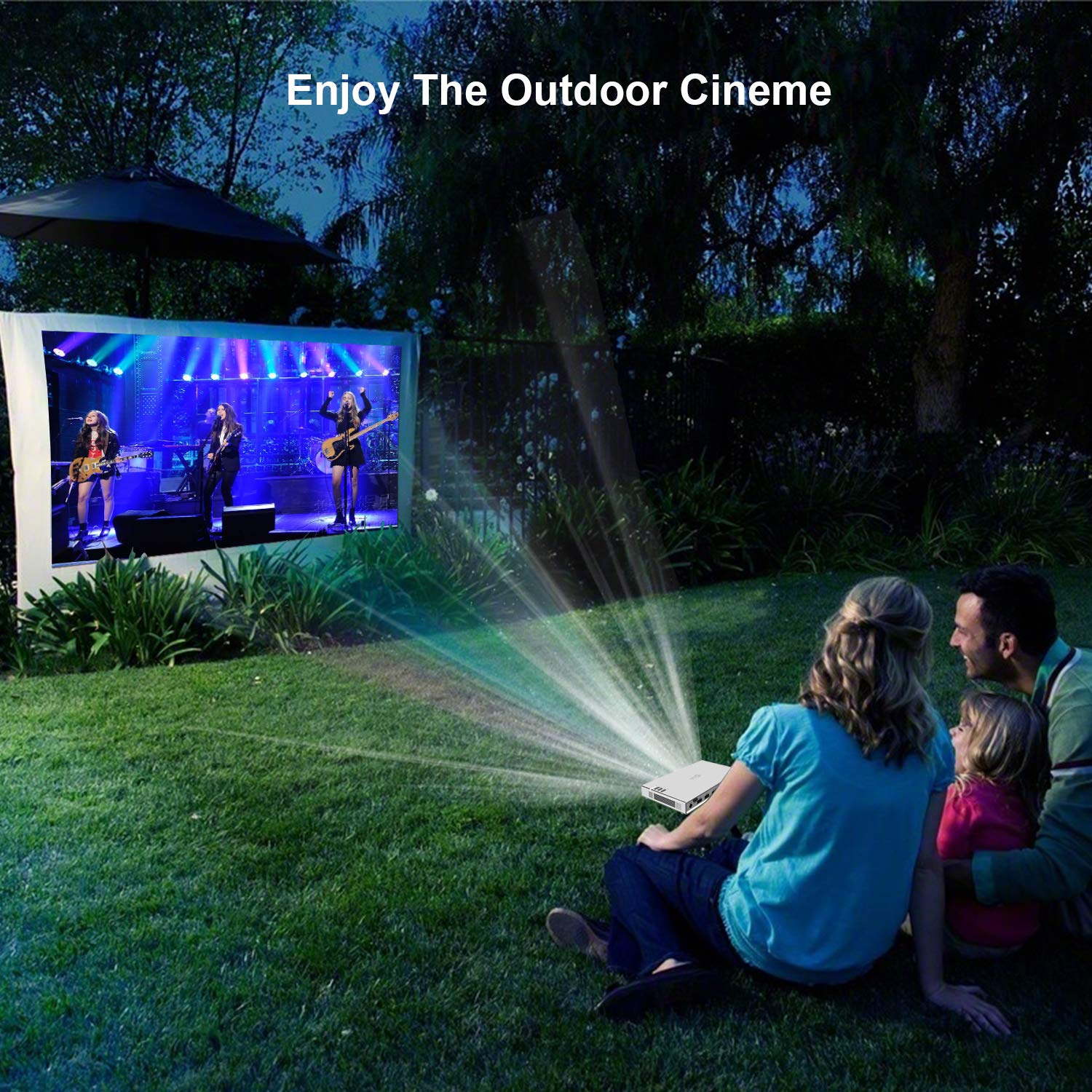 Compatible with Fire TV Stick//PS3//PS4 200 ANSI Lumens Pico Projector Silver TOUMEI T5 Mini Projector Portable Bluetooth Home Cinema Android DLP Projector Support 1080P 4K HDMI 3D DLP-LINK