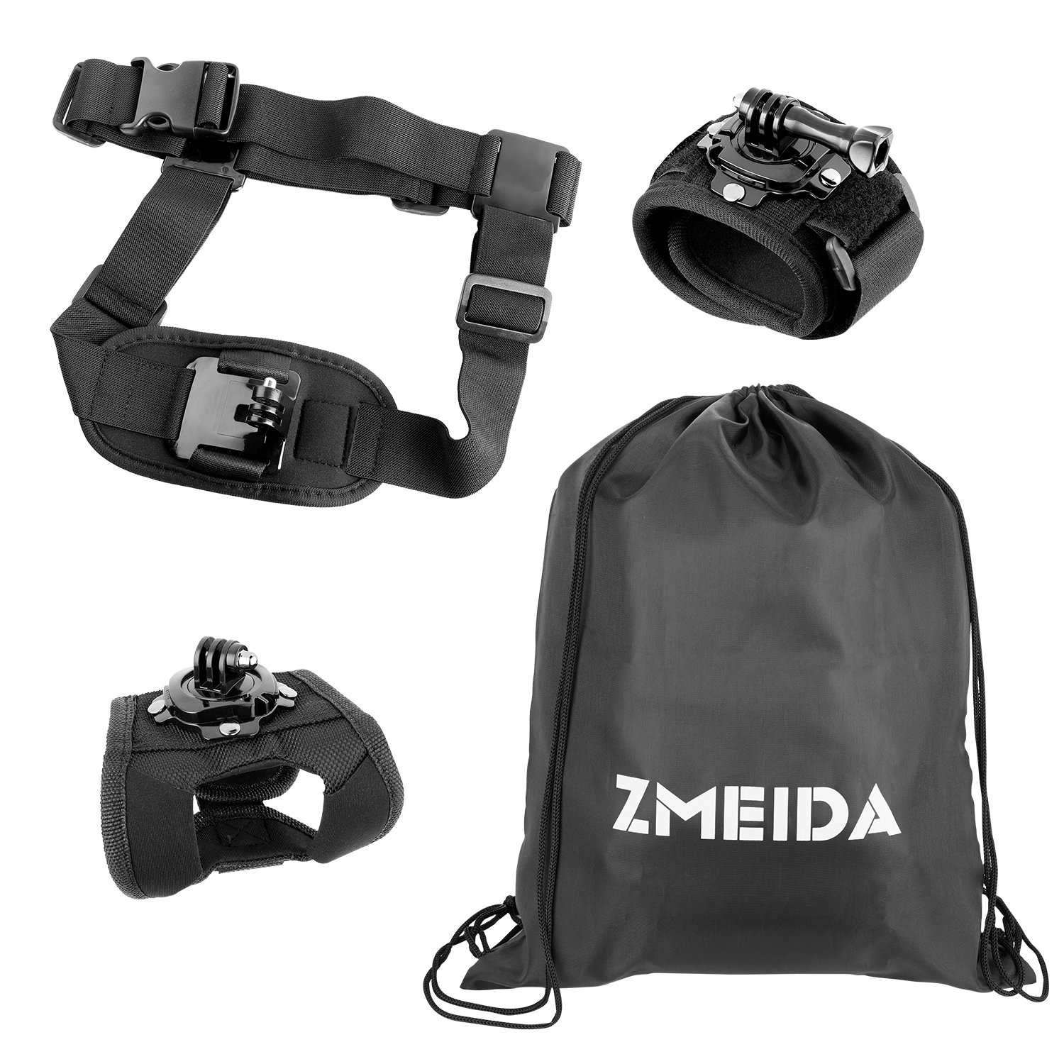 Zmeida Accessory Kit for GoPro HERO3+, GoPro HERO3, GoPro HERO2 and GoPro HERO Cameras