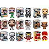 Funko POP! DC and Marvel Superhero Mystery Pack - 6 Random Funko POPs! All Comic Book Characters! No Duplication!