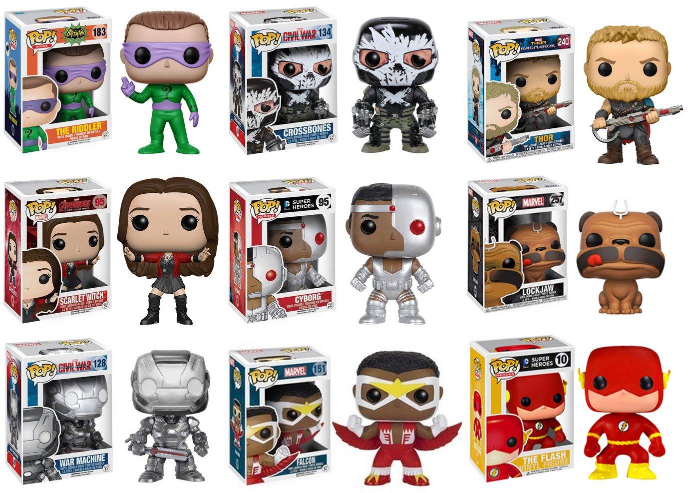 Amazon.com: Funko POP! DC and Marvel Superhero Mystery Pack - 6 ...