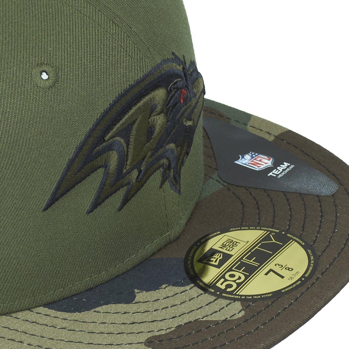New Era 59Fifty Cap Baltimore Ravens Wood camo