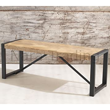 Harbour Indian Reclaimed Wood Furniture Small Dining Bench Amazon