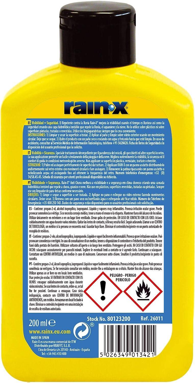 Rain-x Tratamiento anti-lluvia 200ml: Amazon.es: Coche y moto