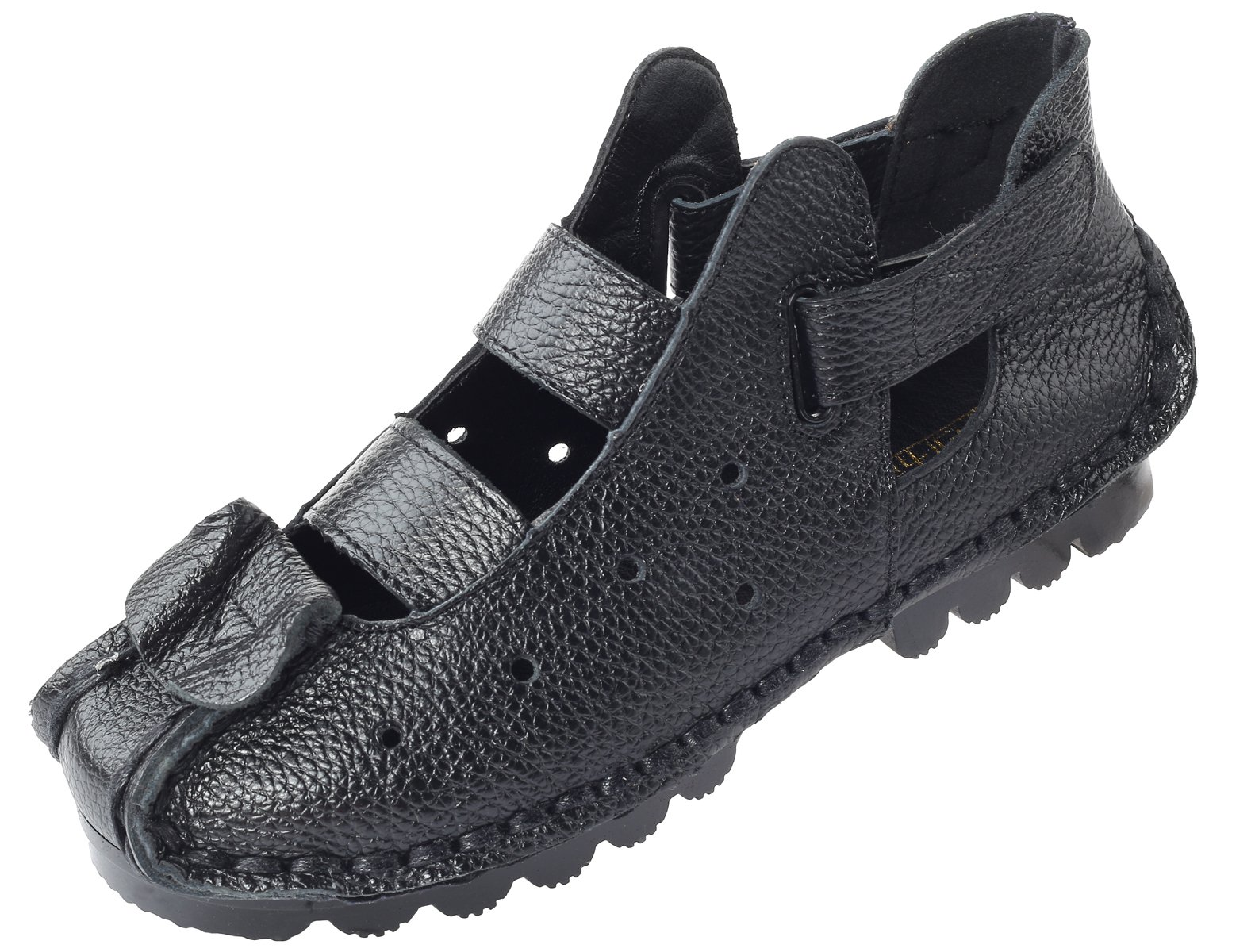 Mordenmiss Women's Summer New Leather Huarache Sandals (39, Style 2-Black)