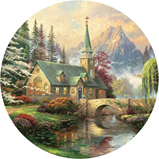 product image for Thomas Kinkade Dogwood Chapel Round Puzzle - 500Piece