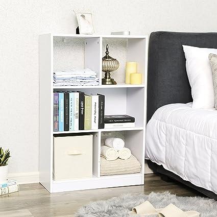 SONGMICS Bücherregal, Raumteiler Regal, Standregal aus Holz ...