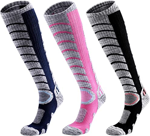 Ladies Womens Winter Long Snowboard Hiking Skiing Ski Socks 2.0 TOG Lot Size 4-7