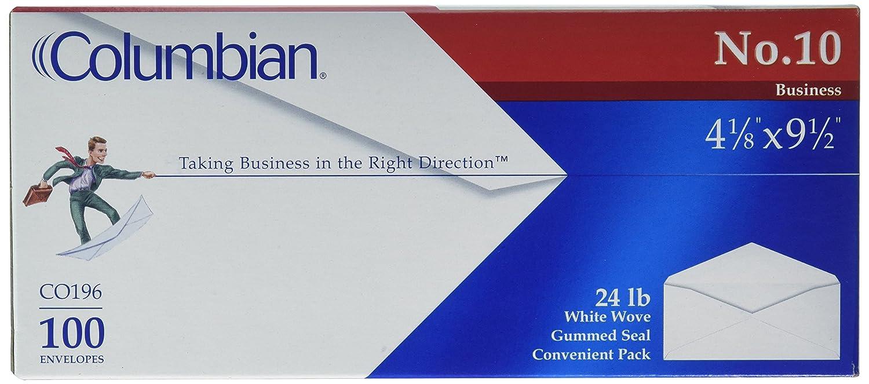 Columbian #10 Envelopes,4-1/8 x 9-1/2, 100 per Box, 2-Pack (73401) 4-1/8 x 9-1/2 ACCO Brands