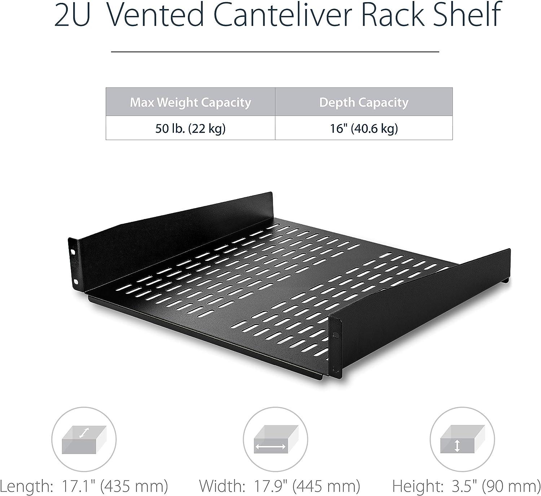 """3 Pack Lot 19/"""" One Space 1U Vented Relay Rack Mount Steel Shelf 10/"""" Deep Depth"""