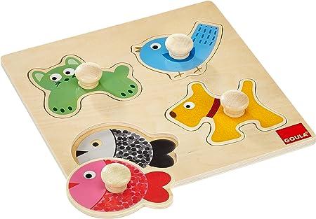 El fondo color guía a los niños a poner el animal en los lugares adecuados,Atraen colores formas y a