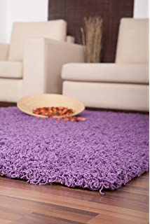 quality shaggy modern rug in purple violet 60 x 110 cm 2u0027u0027 x