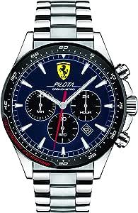 Ferrari Unisex-Adult Quartz Watch, Chronograph Display and Stainless Steel Strap 830598