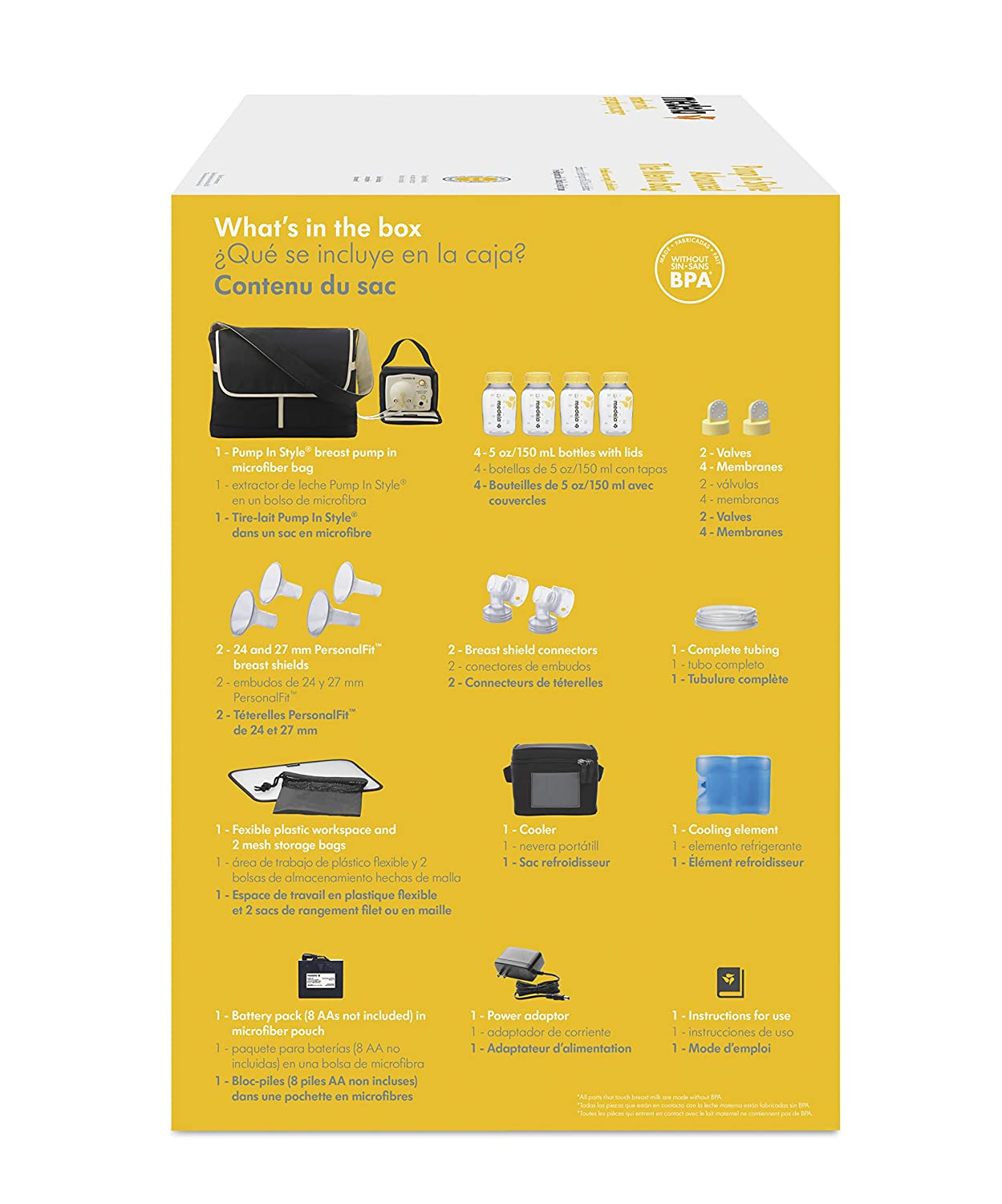Medela Pump in Style Advanced Breast Pump with Metro Bag, Double Electric Breastpump, Portable Battery Pack, Power Supply Adapter 110v - 220v, ...