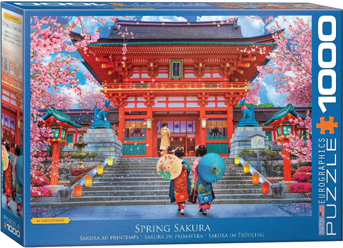 EuroGraphics Spring Sakura by David McLean 1000-Piece Puzzle