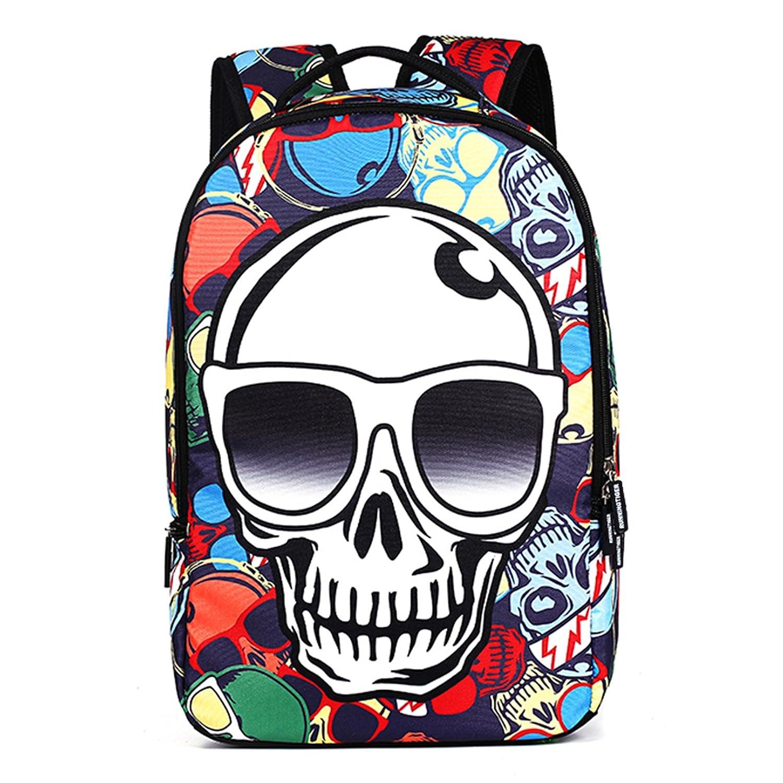 88512fa3007 60%OFF Runningtiger Skull print laptop backpack school bag for boys   girls  (Colorful
