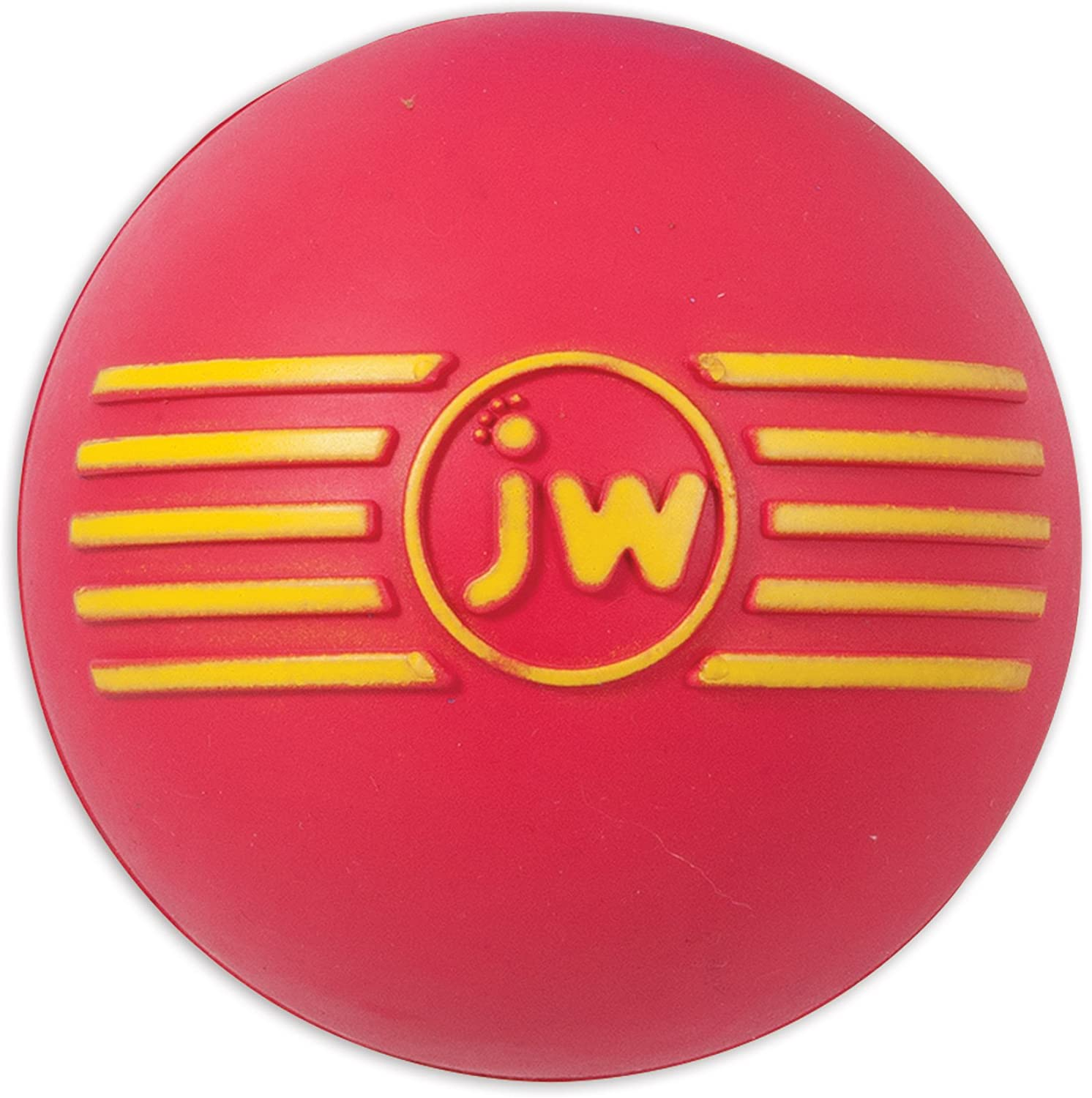JW Isqueak Ball Medium By Squealing Thick Rubber Ball For Dogs, M