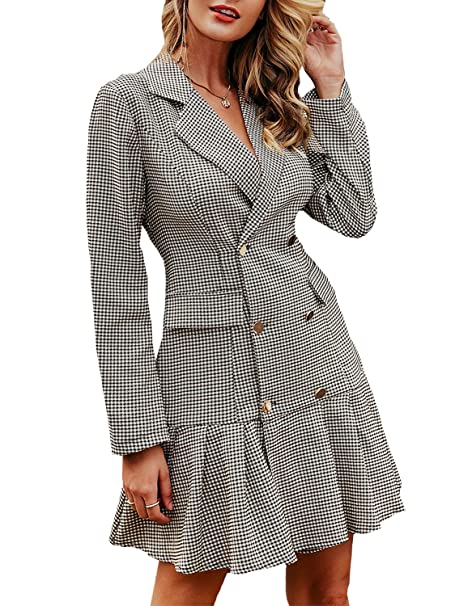 Amazon.com: Zandiceno - Mini vestido plisado para mujer ...