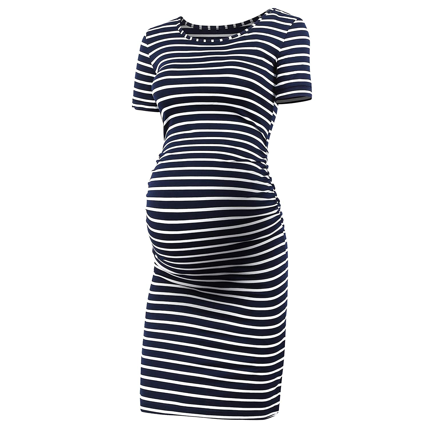 RNXRBB DRESS レディース B07FVMZW2Z Medium|Navy Stripe-2 Navy Stripe-2 Medium