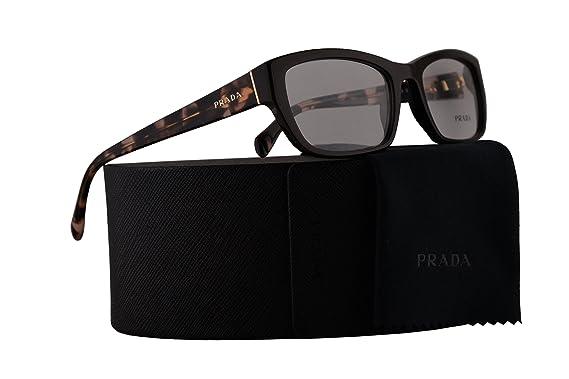 839749e5a73 Prada PR18OV Eyeglasses 52-18-135 Dark Brown w Demo Clear Lens DHO1O1  VPR18O VPR 18O PR 18OV  Amazon.co.uk  Clothing