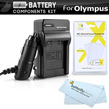Amazon.com: Kit de Cargador de batería para Olympus Stylus ...