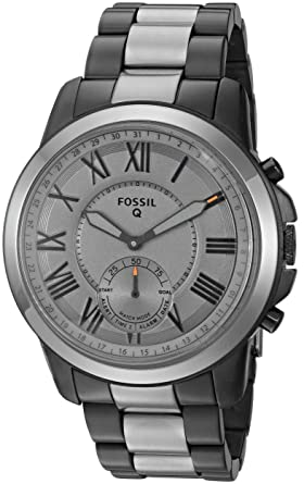 Amazon.com: Fossil Q Mens Grant Stainless Steel Hybrid ...