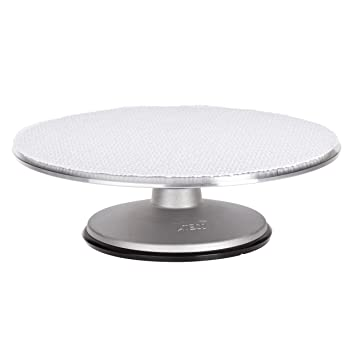 Ateco 613 Revolving Cake Decorating Stand, 12u0026quot; Round, Aluminum Base  With 1/