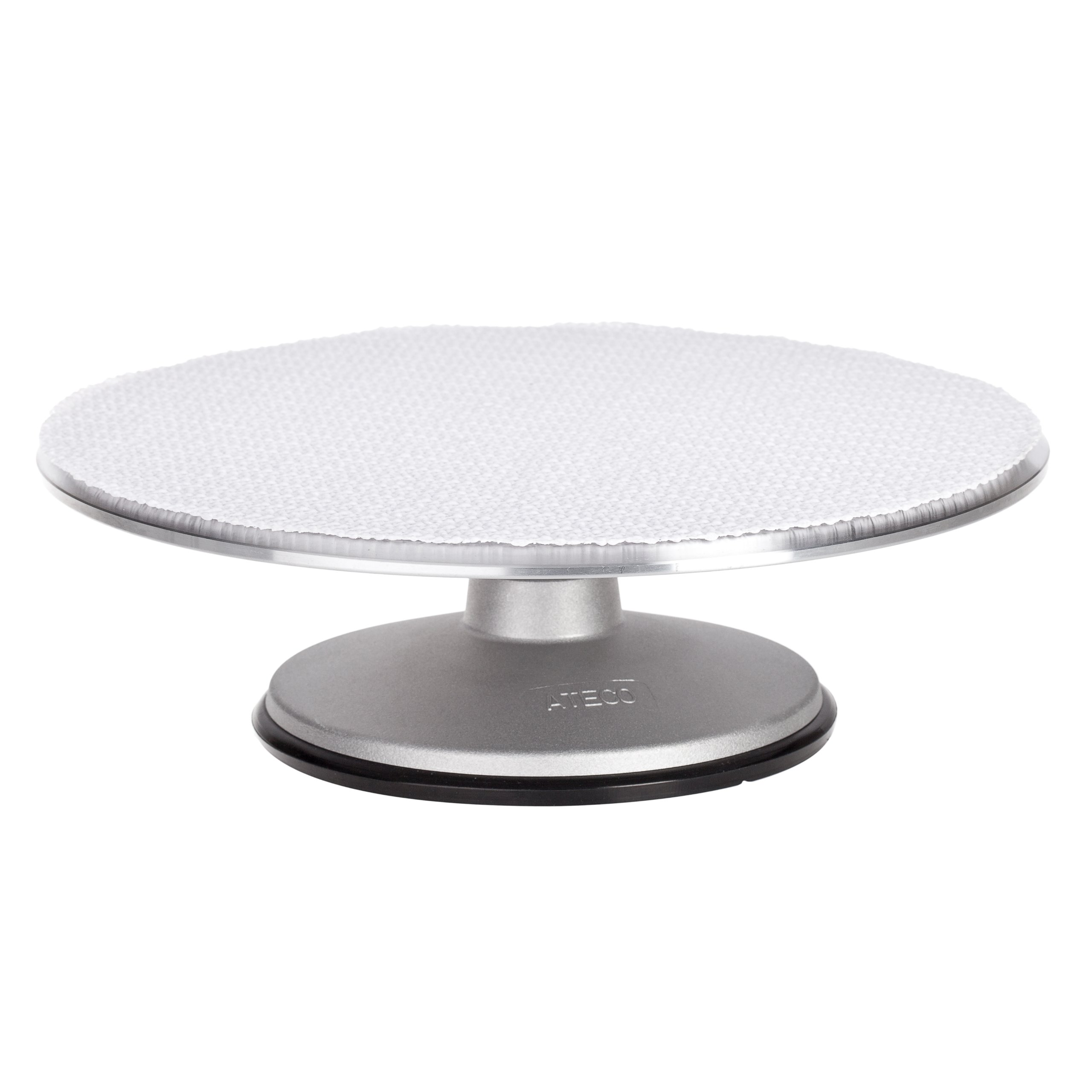 Ateco 613 Revolving Cake Decorating Stand, 12'' Round, Aluminum Base with 1/8'' Aluminum Top