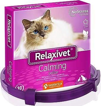 Relaxivet Collar de calmante Ajustable para Perros y Gatos, con Efecto Atractivo, Alivio de ansiedad para Gatos y Perros, Collar antiansiedad con Efecto calmante de Larga duración: Amazon.es: Deportes y aire libre